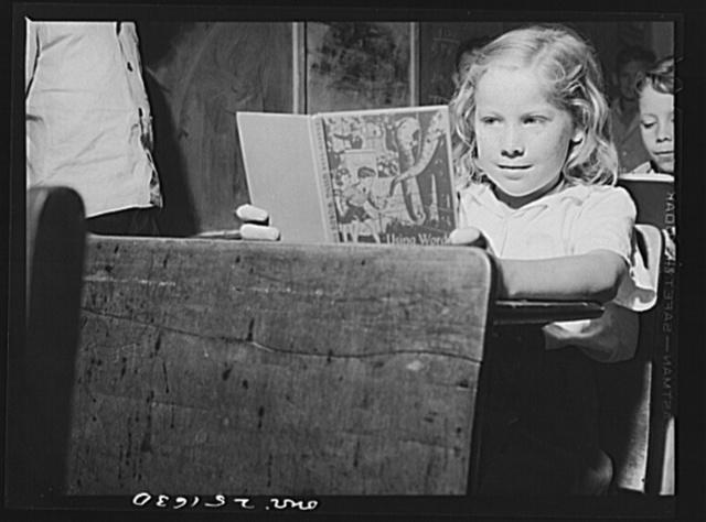 San Augustine, Texas. A school girl