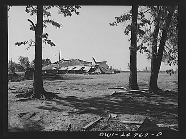 San Augustine, Texas. Negro church destroyed by the March tornado