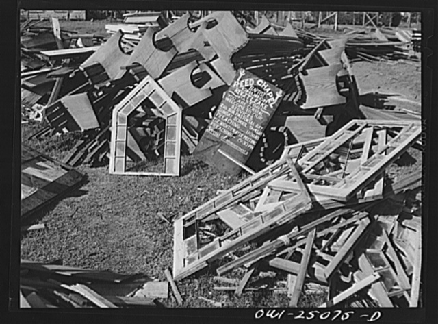 San Augustine, Texas. Ruins of the Negro church which was destroyed by March tornado