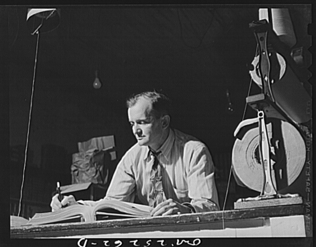 San Augustine, Texas. R.V. Long, a grocer who is also one of the town councilmen