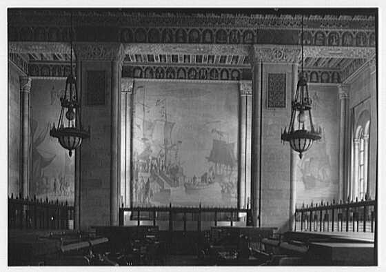 Seamen's Bank for Savings, 74 Wall St., New York City. Murals