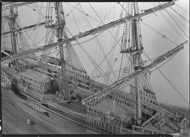 Seamen's Bank for Savings ship models, 11 E. 45th St., New York City. Model James Baines, deck view