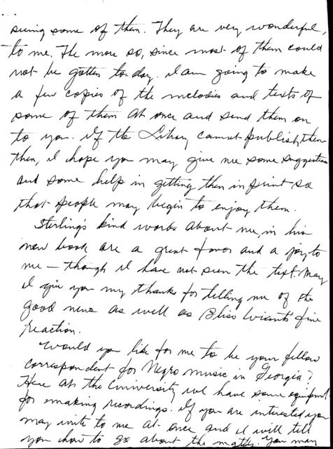 September 15, 1943, letter from Willis Laurence James to B.A. Botkin