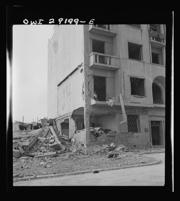Some of the devastation around Tunis after the Allies delivered the knockout blow