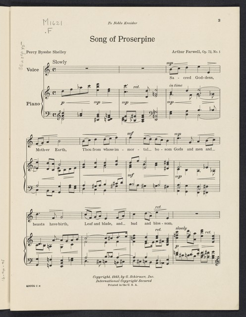 Song of Proserpine
