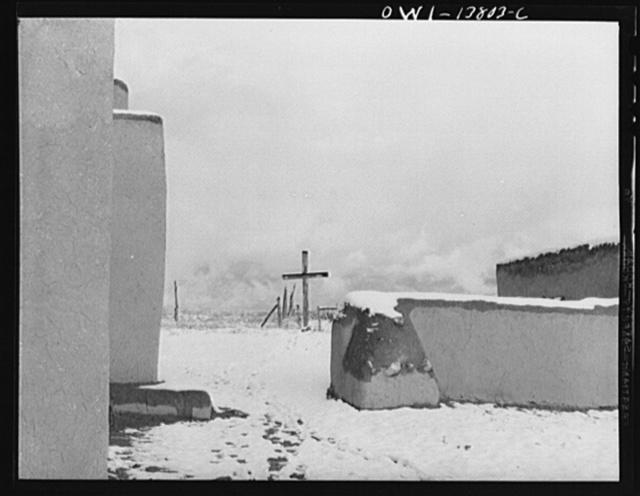 Taos, New Mexico. The churchyard of the Penitente Miranda