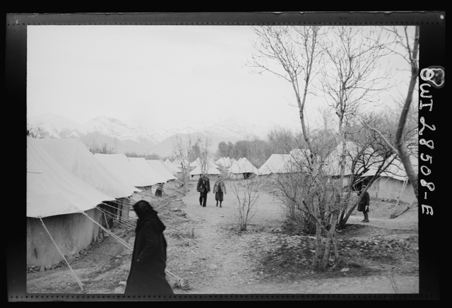 Teheran, Iran. Children playing at an evacuation camp operated by the Red Cross