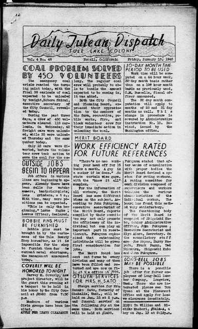 The daily Tulean dispatch (Newell, Calif.), January 15, 1943