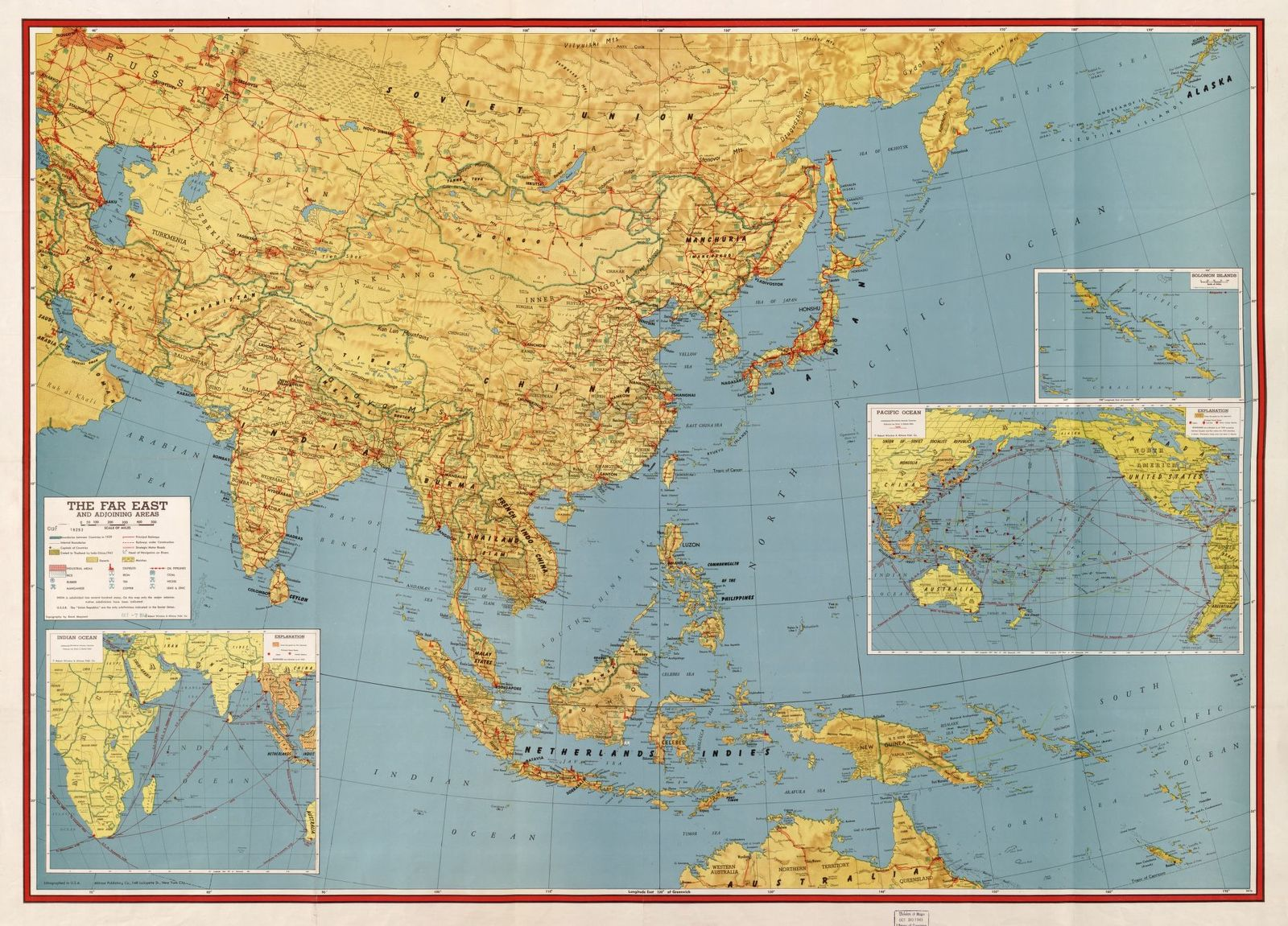 The Far East and adjoining areas /