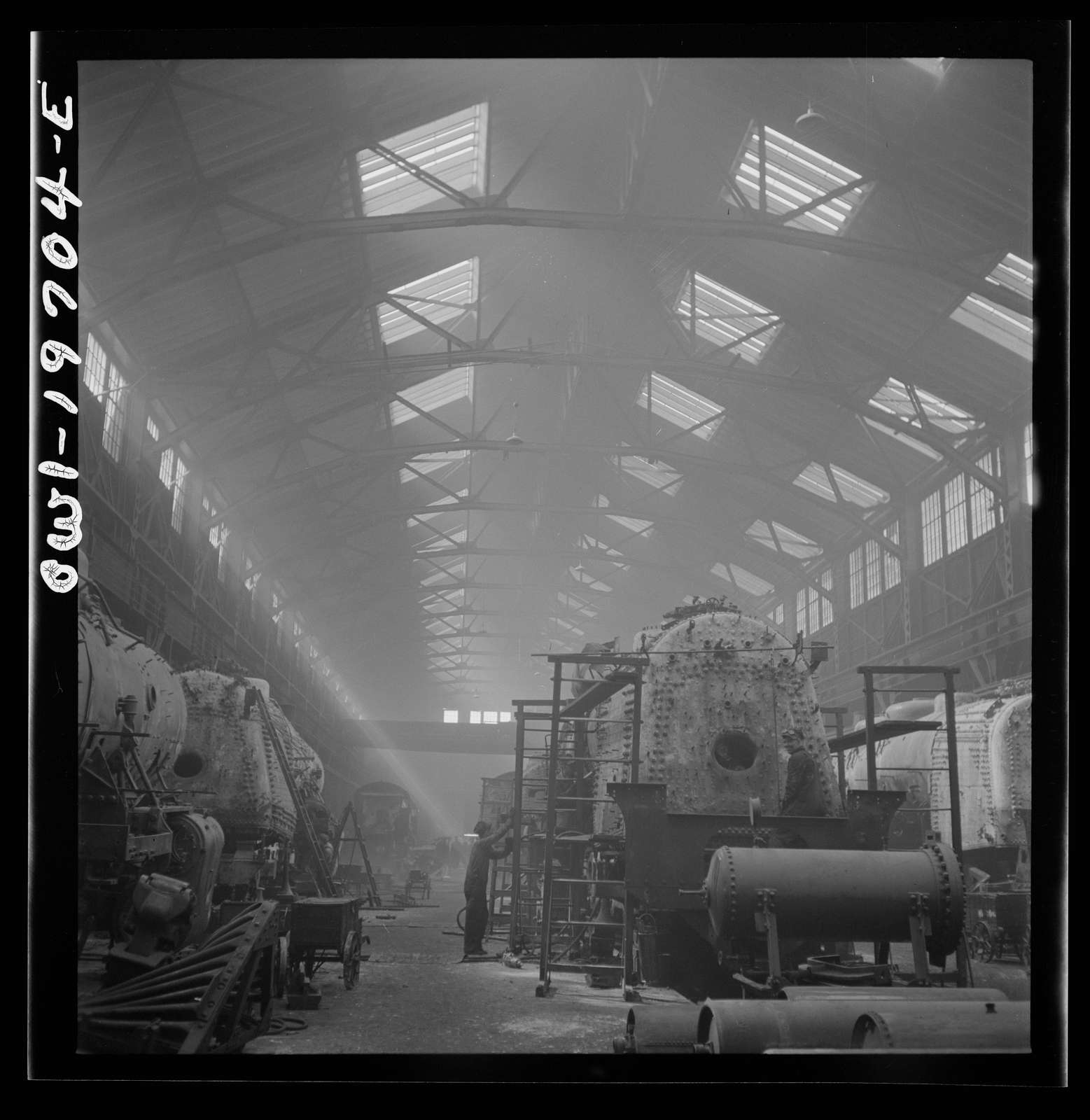 Topeka, Kansas. A general view of a part of the locomotive shops of the Atchison, Topeka, and Santa Fe Railroad