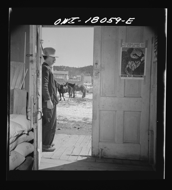 Trampas, New Mexico. Doorway of general store