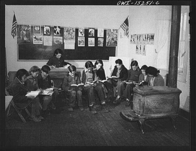 Trampas, New Mexico. Grade school