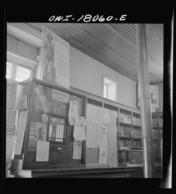 Trampas, New Mexico. Post office in the general store