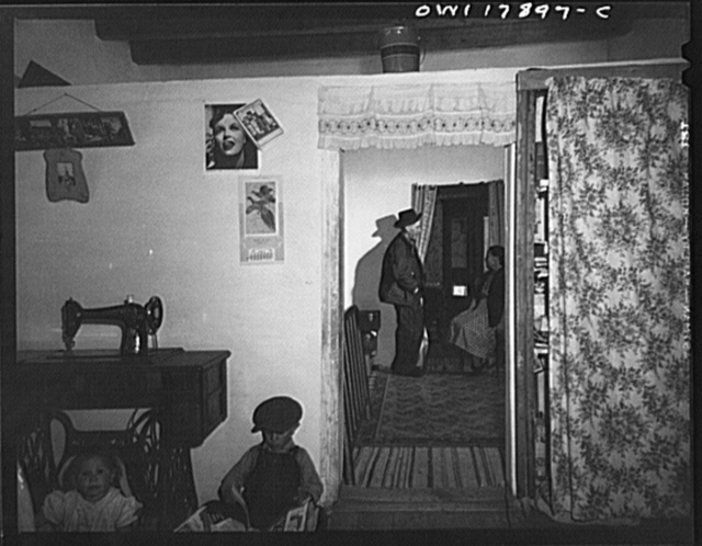 Trampas, New Mexico. The house of Juan Lopez, the majordomo (mayor), is spacious and orderly