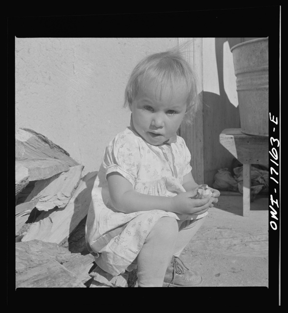 Trampas, New Mexico. The youngest daughter of Juan Lopez