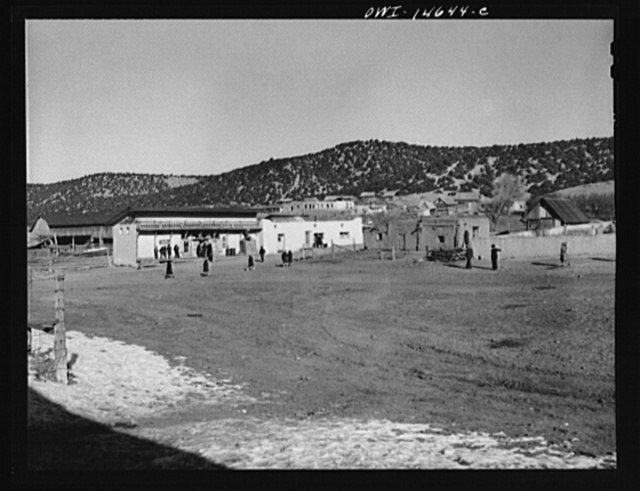 Trampas, Taos County, New Mexico. A Spanish-American village in the foothills of the Sangre de Cristo mountains dating back to 1700 which was once a sheep-raising center. Due to overgrazing and loss of range title, its inhabitants now work as migratory labor and at subsistence farming