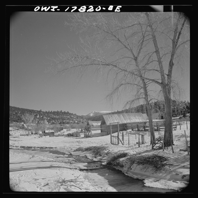 Trampas, Taos County, New Mexico. A Spanish-American village in the foothills of the Sangre de Cristo Mountains