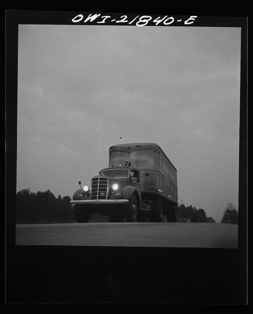 Truck from Montgomery, Alabama coming into Pensacola, Florida on U.S. Highway 29