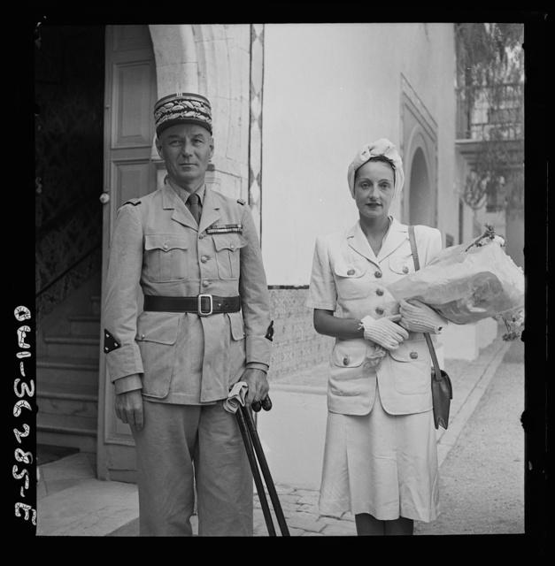 Tunis, Tunisia. General and Madame Mast. General Mast is the new resident general of Tunisia