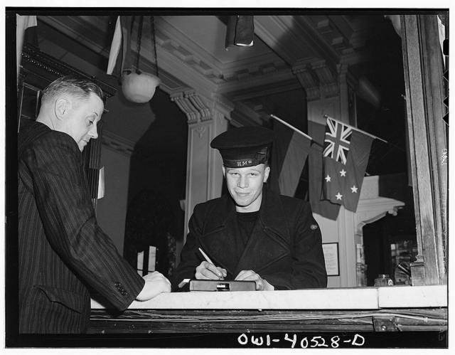 Washington, D.C. A British sailor registering at the United Nations service center