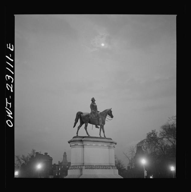Washington, D.C. A statue of General Scott, Scott Circle at Sixteenth Street