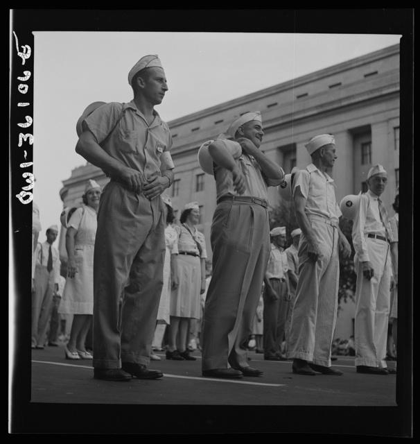 Washington, D.C. A unit of the parade to recruit civilian defense volunteers