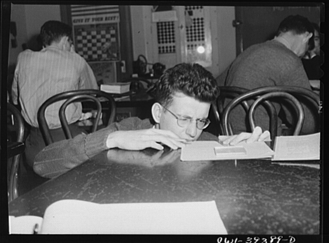 Washington, D.C. An experiment in the physics laboratory at Woodrow Wilson High School