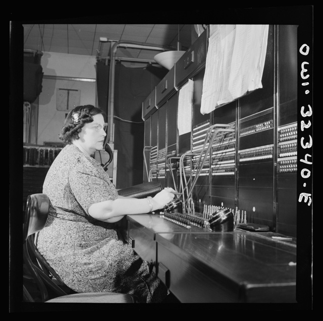Washington, D.C. Miss Ethel Wakefield, a Western Union telegraph PBX operator