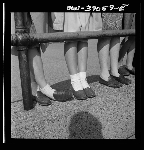 Washington, D.C. Moccasins are worn without socks at Woodrow Wilson High School