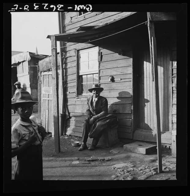 Washington, D.C. Negroes in front of their alley dwellings near the capitol