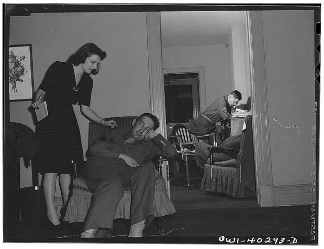 Washington, D.C. Servicemen who sleep in the lounge at the United Nations service center between trains can have an attendant wake them at a specific time