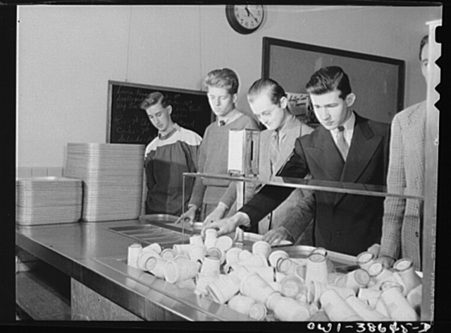 Washington, D.C. Student cafeteria at Woodrow Wilson High School