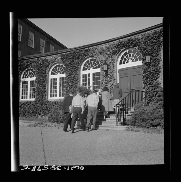 Washington, D.C. Students entering school at Woodrow Wilson High School
