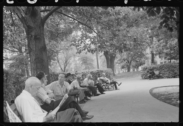 Washington, D.C. Sunday afternoon in Franklin Park