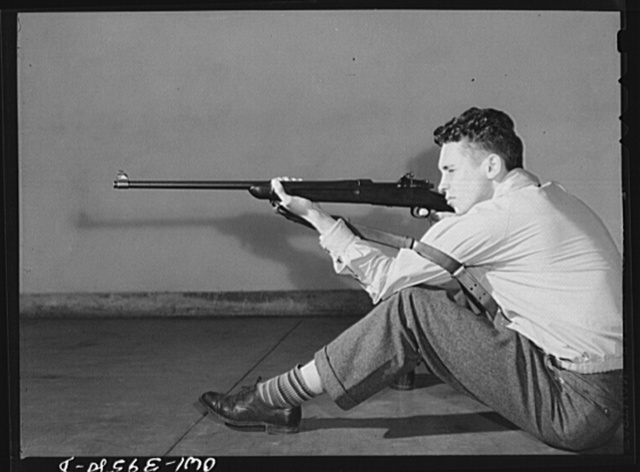 Washington, D.C. Walter Spangenberg is a member of the rifle club at Woodrow Wilson High School