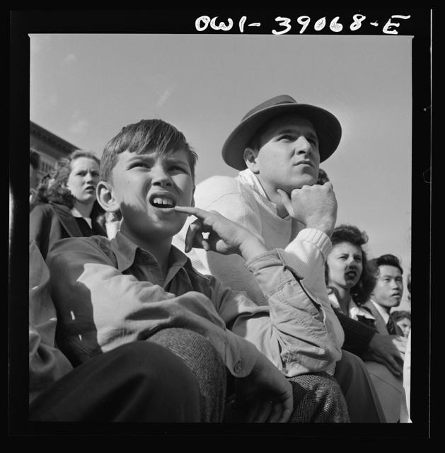 Washington, D.C. Watching a football game at Woodrow Wilson High School