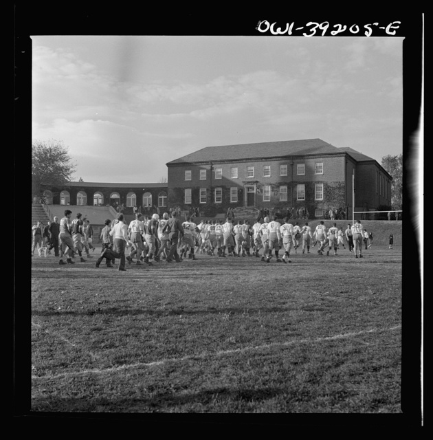 Washington, D.C. Woodrow Wilson High School team leaving the field after a game