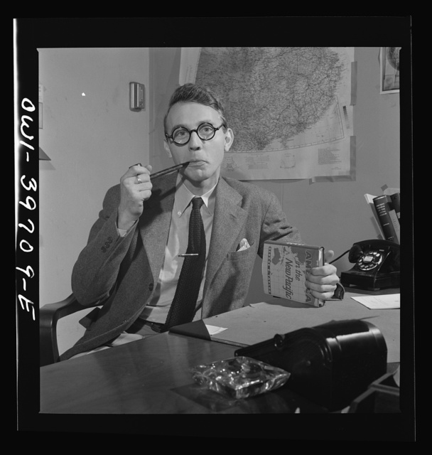 W.W. Linebarger, in charge of specialties. Far East Section, Overseas Branch, Office of War Information