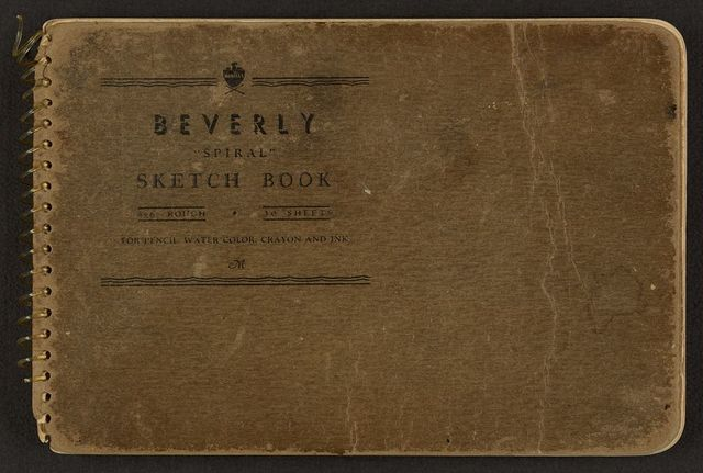 [Cover of sketchbook, volume 7]