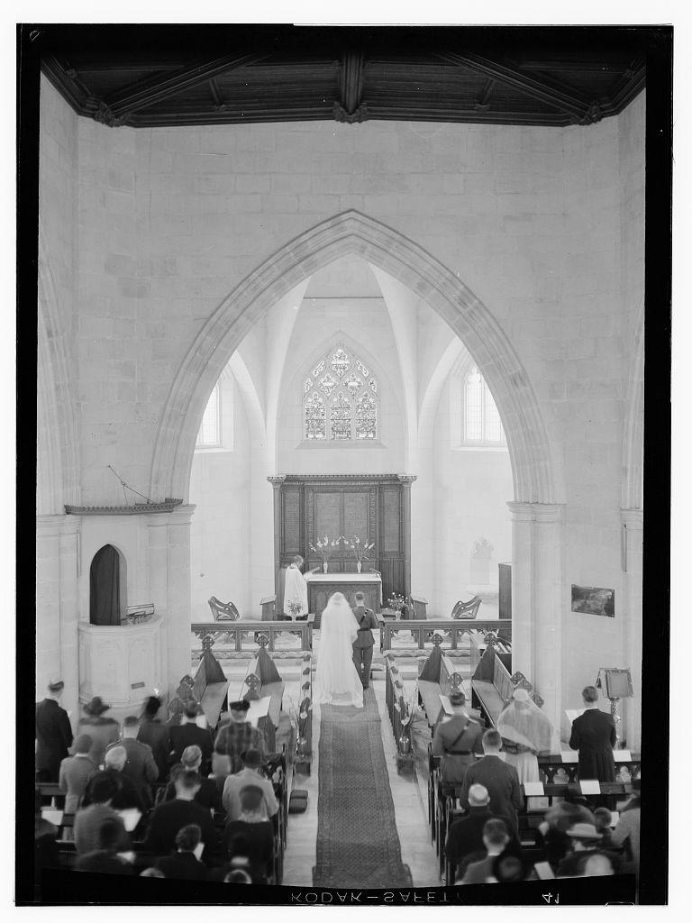 [Dawkins Anderson wedding in church]