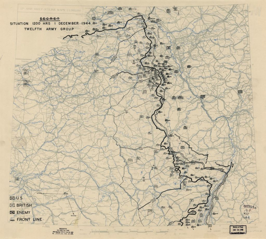 [December 1, 1944], HQ Twelfth Army Group situation map.