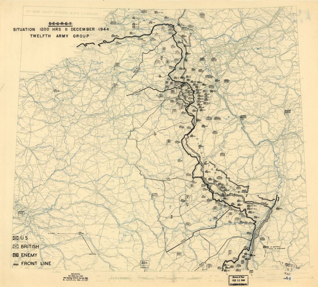 [December 11, 1944], HQ Twelfth Army Group situation map.