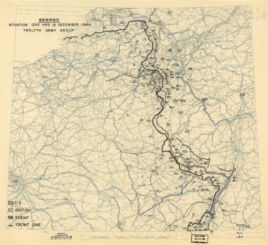[December 13, 1944], HQ Twelfth Army Group situation map.
