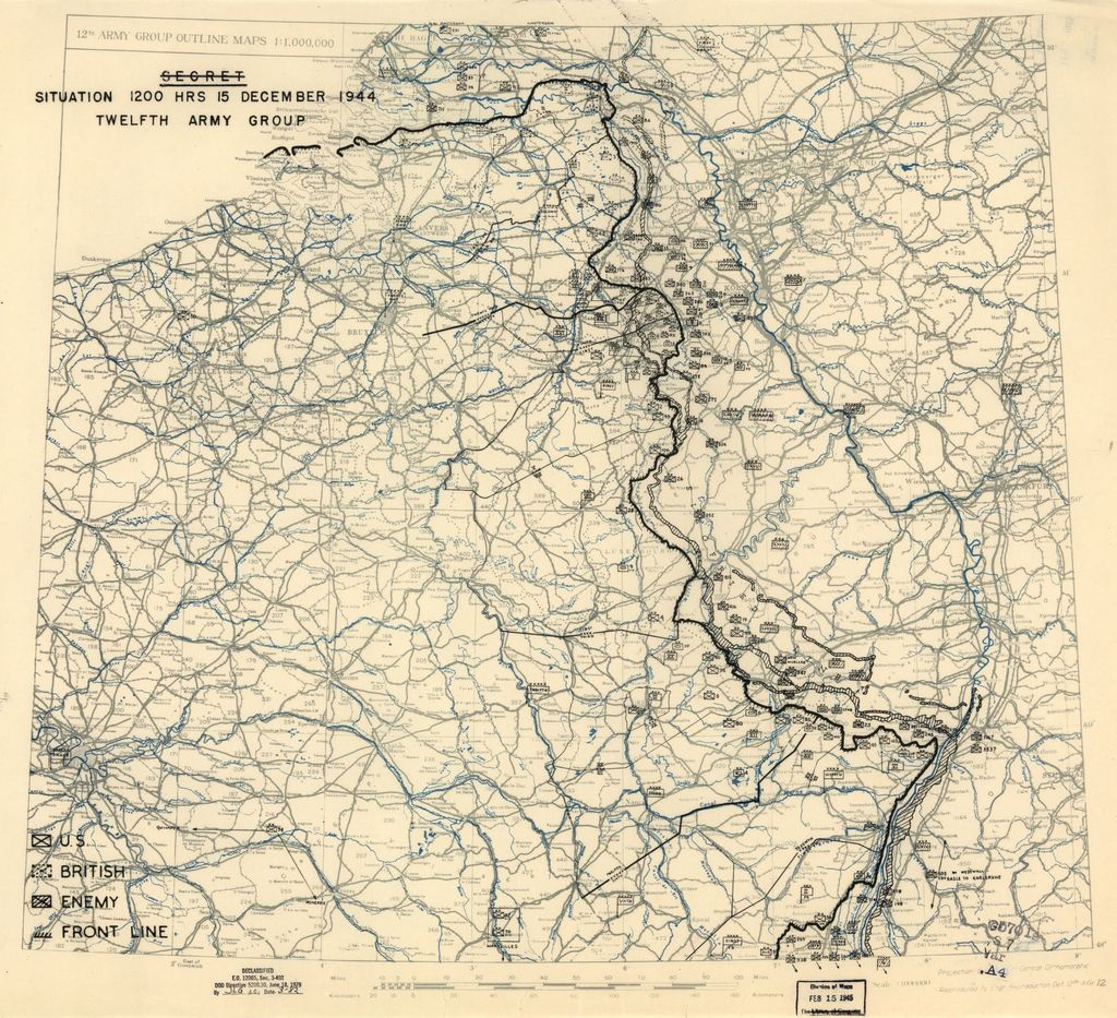 [December 15, 1944], HQ Twelfth Army Group situation map.