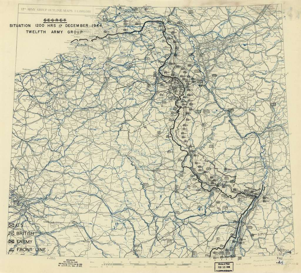 December 17, 1944, HQ Twelfth Army Group situation map
