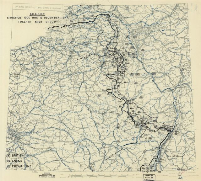 [December 19, 1944], HQ Twelfth Army Group situation map.