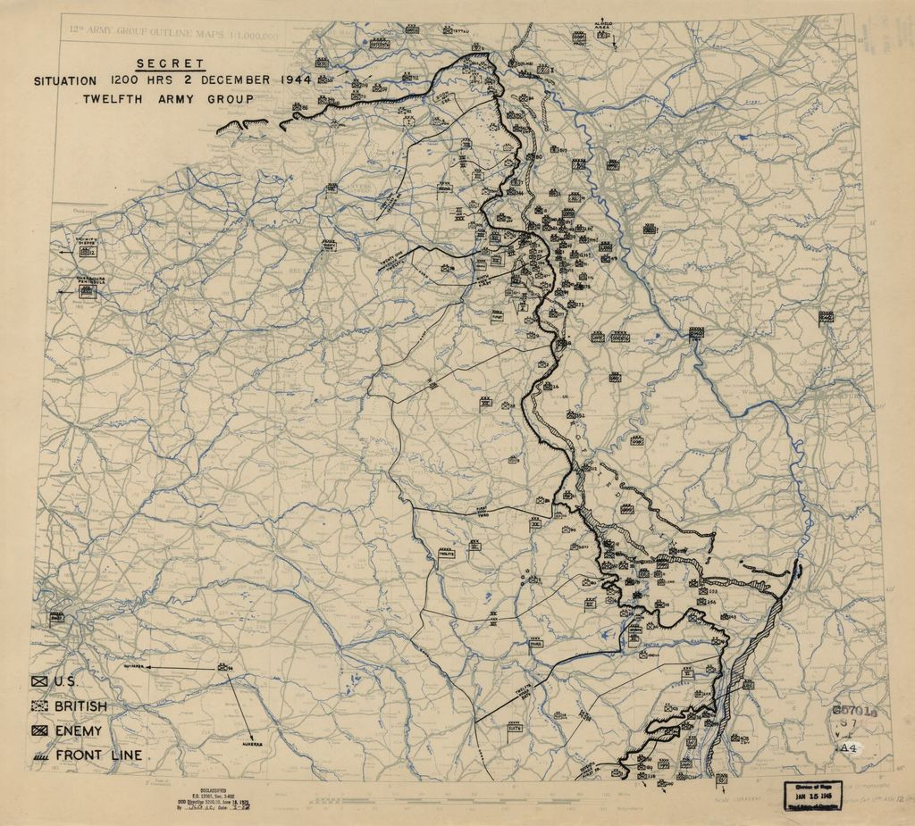 [December 2, 1944], HQ Twelfth Army Group situation map.