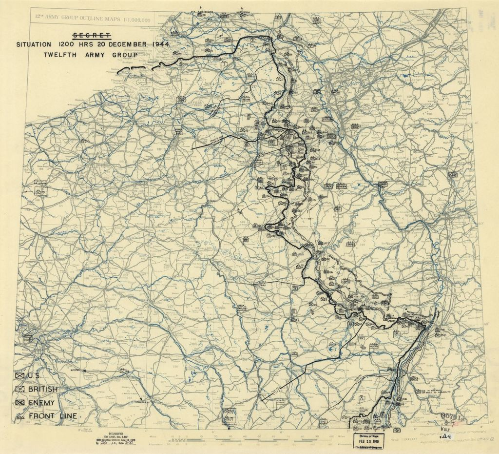 [December 20, 1944], HQ Twelfth Army Group situation map.