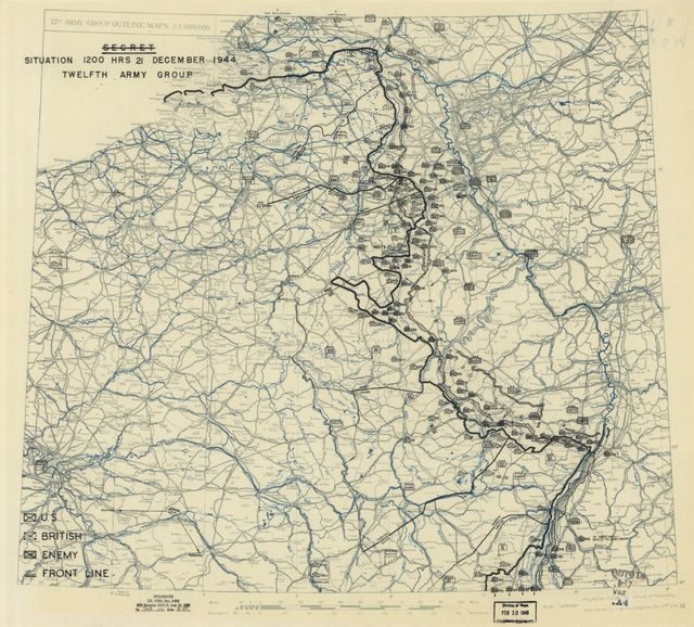 [December 21, 1944], HQ Twelfth Army Group situation map.
