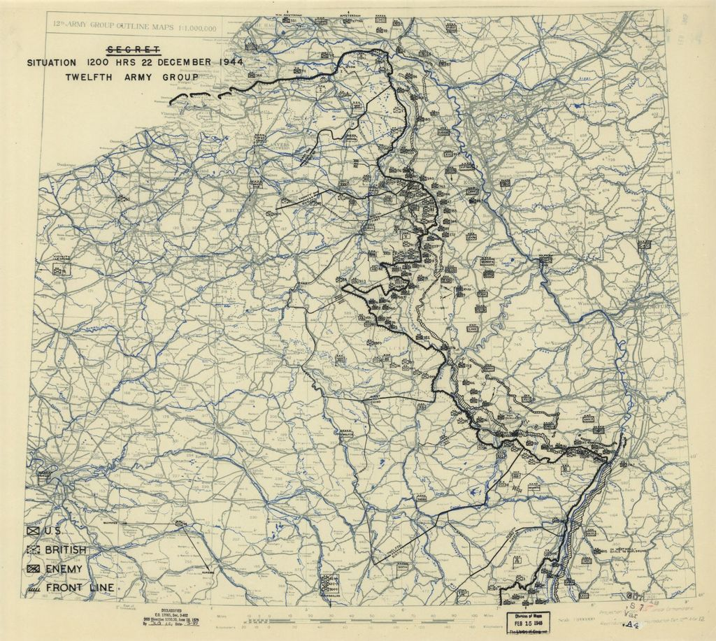 [December 22, 1944], HQ Twelfth Army Group situation map.